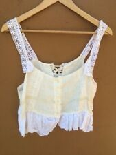 Magnolia Pearl Linen & Eyelet Bustier Top (Authentic)