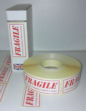 Fragile labels, Fragile stickers, 1000 On a roll (Not Sheets) 80mm x 34mm