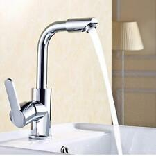 Kitchen Bathroom Sinks Faucet Flat Mix Cold And Hot Water Water Tap New