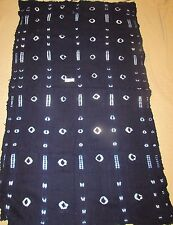 "Indigo African Mudcloth Bambara Fabric Africa 74"" by 42"" TRibal Lore I-5"