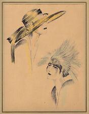 Annie offterdinger-florentino-y nachmittagshut-tiza-litografía de styl