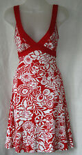 JANE NORMAN (UK8 / EU36) RED AND WHITE STRETCH DRESS WITH BACK BELT