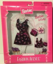 Barbie & Kelly Fashion Avenue Matchin Styles School College Outfit NEW 1997