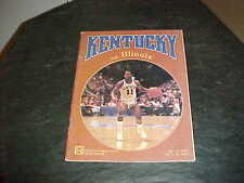 1982 Illini v Kentucky Wildcats Basketball Program 12/11 Rupp Arena