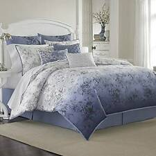 NEW Laura Ashley Delphine 4-piece Comforter Set Toile Queen Size