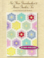 Not Your Grandmother's Flower Garden, Too, by Marci Baker. Strip-Pieced Hexies!