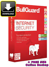 Bullguard internet security 2014 / V14 3 PC utilisateurs 1 an clé d'activation 2015 2016