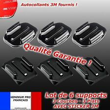 6 Supports GOPRO casque Fixation 3 plats + 3 courbes hero 2 3 3+ 4 flat mount 3M