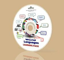 World Languages Learning Mega Pack - French, Spanish, Italian, Many More! DVD