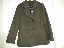 LADIES BM BROWN POLYESTER LINED JACKET, SIZE 14