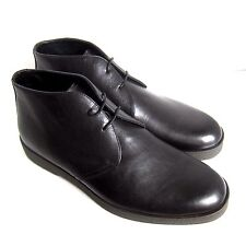 C-1348125 New Ermenegildo Zegna Leather Boots Shoes Size US 12D Marked 11EE