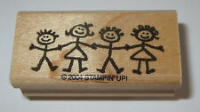 Boys Girls Children Rubber Stamp Stampin' Up! Kids Retired Border Wood Mtd #2