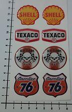 3D AUFKLEBER STICKER 8 Stück Oldschool Shell 76 Schriftzug Emblem Logo Badge V8