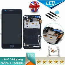 Black For Samsung Galaxy S2 GT I9100 II LCD Display Digitizer Touch Screen Frame