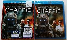 NEW CHAPPIE BLU RAY 2 DISC EDITION WITH BEST BUY EXCLUSIVE SLIPCOVER FREE SHIPPI