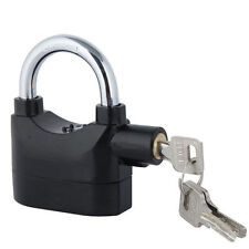 Siren Alarm Lock Security Anti-Theft Padlock Motor Bike Bicycle Padlock Black UK
