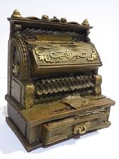 TYPEWRITER VINTAGE ANTIQUE STYLE PIGGY MONEY BOX RESIN MINIATURE DECOR COLLECT