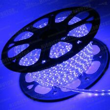 Blue 110V 120V Power Flexible Flat 3528SMD LED Strip Rope Light Cut - 40 Feet ft