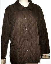 SUPERB WOMENS BURBERRY QUILTED JACKET SIZE XL BROWN