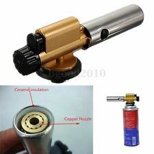 Ignition Butane Gas Blow Torch Flamethrower Burner Camping Welding BBQ Lighter
