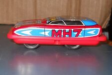 VINTAGE 1960'S JIMMY TOYS TIN & PLASTIC MH7 FRICTION SPIN BUNNY CAR HONG KONG