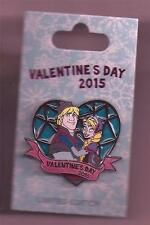 Disney Valentine's Day 2015 Frozen Anna & Kristoff  Stained Glass LE Pin New