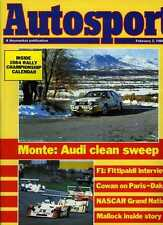 Autosport February 2nd 1984 *Monte Carlo Rally*