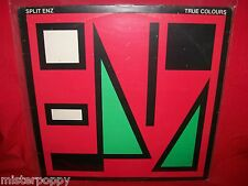 SPLIT ENZ True Colours LP NEW ZEALAND 1980 MINT- Red/Green Cover