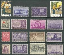 US collection of Commemoratives stamp lot of 16 MNH US Postal Service