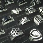 50pcs wholesale jewelry lots mix style silver plated Fashion Rings Free shipping
