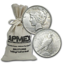 1922-1935 Peace Silver Dollars 100 Coin Bag Very Good/Extra Fine - SKU #59745