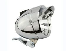 BICYCLE VINTAGE BULLET HEADLIGHT CHROME VISOR HIGH LOW BEAM BEACH CRUISER