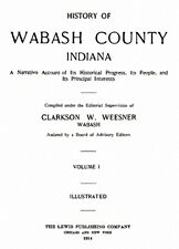 2 Vol 1914 Genealogy History Wabash County Indiana IN