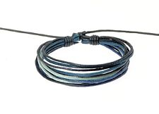 Surf Surfer Style Multi-Coloured Cord Bracelet Wristband Blue Black