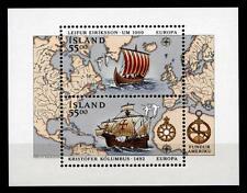 Wiking L.Eriksson und Chr.Kolumbus. Segelschiffe. Block. Island 1992