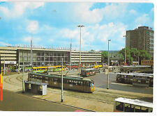 Rotterdam Central Station Lively Street Scene with Buses & Trams, Late 70s