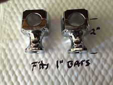 "harley Chopper bobber custom 2"" CHROME RISERS 1/2-20 threads"