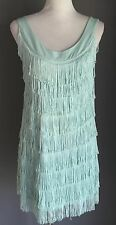 NWOT H & M Mint Green 1920's inspired Fringed Flapper Dress Size M (12/14)