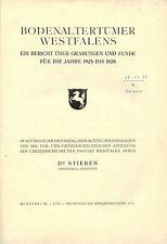 Stieren, Boden-Altertümer Westfalen, Grabungen Funde 1925/28, Archäologie, 1929