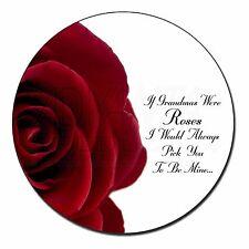 'If Grandma's Were Roses' Fridge Magnet Stocking Filler Christmas Gift, GRA-R4FM