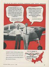 1949 Esso Ad Oil Gas Fuel Cavalier Aviation Richmond Virginia Ercoupe Bonanza