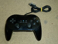 NINTENDO WII U WIRED CLASSIC PRO STYLE CONTROLLER PAD PRO Black Control Game Pad