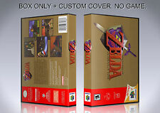 ZELDA OCARINA OF TIME. NTSC ENGLISH. Box/Case. N 64. BOX + COVER. (NO GAME).