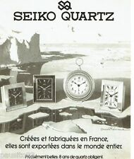 PUBLICITE ADVERTISING 116  1978  les pendules s Seiko quartz par Denis Thémond