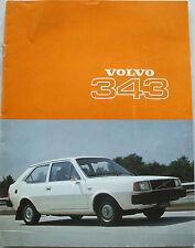Volvo 343 Range Brochure~~1977
