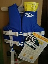 Blue Stearns Life Vest Jacket Child (30-50 pounds) NEW durable Nylon Boating