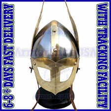 Medieval Norman Viking Mask Helmet King Armor Helm Fully Wearable w/ Inner Liner