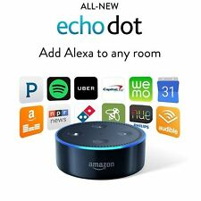 Amazon Echo Dot 2nd Generation w/ Alexa Voice Controlled Media Device Black New
