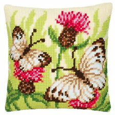 "Floral Butterflies Cushion Cover 16"" x 16"" Cross Stitch Kit"