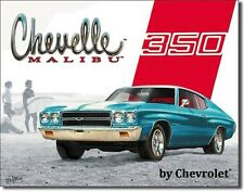 NEW Chevrolet Chevelle Malibu 350 Antique Vintage Look Muscle Car Tin Metal Sign